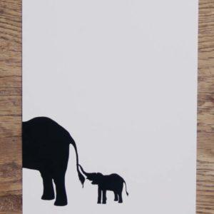 A6 Karte Baby und Mama Elefant