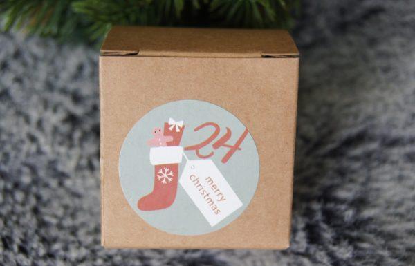 Die kleinen süssen Böxli um den Adventskalender selber zu füllen, sind von 1-24 beschriftet.