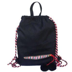 Dieser coole schwarze Backpack von Bag-All ist bei uns personalisierbar - Wundervolle Geschenke für jung und alt entstehen so!