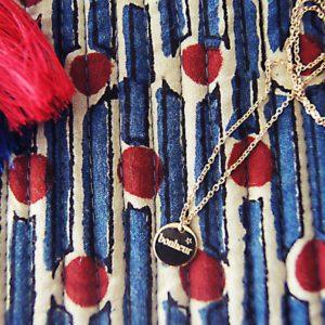 Bonheur goldene Halskette Amulett