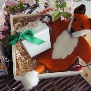 Ostergeschenk Fuchs Handpuppe