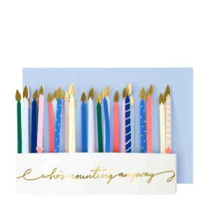 Auffaltbare Geburtstagskarte mit Kerzen