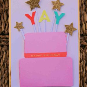 Kuchen Geburtstagskarte 3D