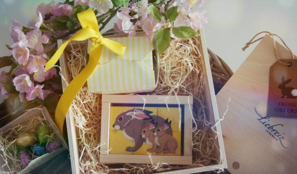 Würfelspiel Puzzle von Atelier Fischer in frühlingshafter Geschenkbox