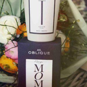 Mom Thank you Kerze Atelier Oblique