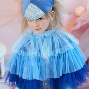 Kostüm Papagei in blau Meri Meri
