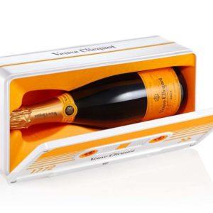 Champagner Geschenk in der Retro Kassetten Box