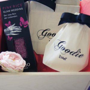 Hochzeitsgeschenk Reis und Goodie bag