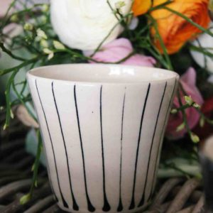 Watergoblet Wonkiware black-white stripes