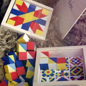 Zauberchäschtli Mosaik Holzwürfel Spiel