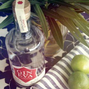 Eva Gin mit Geschirrtuch in Geschenkbox von Liebreiz - ein sommerlich schönes Geschenk