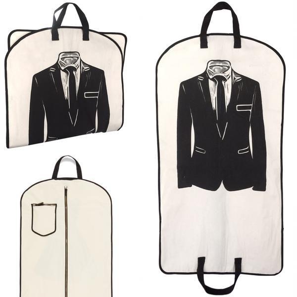 Kleidersack aus 100% natürlicher Baumwolle von Bag-all mit zwei Tragegriffen, ein tolles Geschenk für Herren mit Stil bei Liebreiz