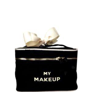Das schöne schwarze Beauty-Case My Make-up ist ein wunderschönes personalisierteres Geschenk.