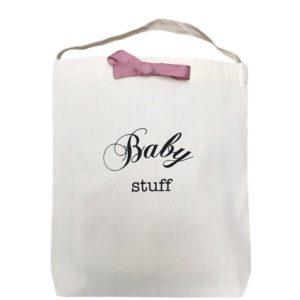 Der Baby Stuff Beutel Bag-All mit rosé Masche kann als Geschenkverpackung dienen und dann umgenutzt werden als Aufbewahrungs-Beutel. Personalisierbar!