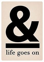 & life goes on Grusskarte A5 zum Aufstellen