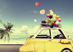 Grusskarte Sommer Feelings mit Ballons